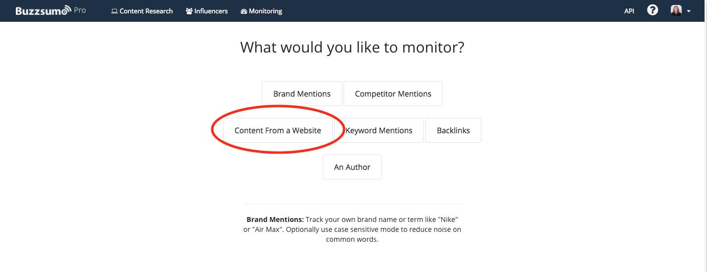 Set an alert for content from a website