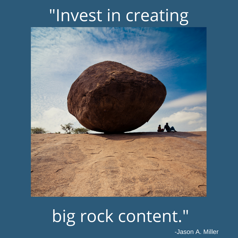Big rock content is key to SEO and Content