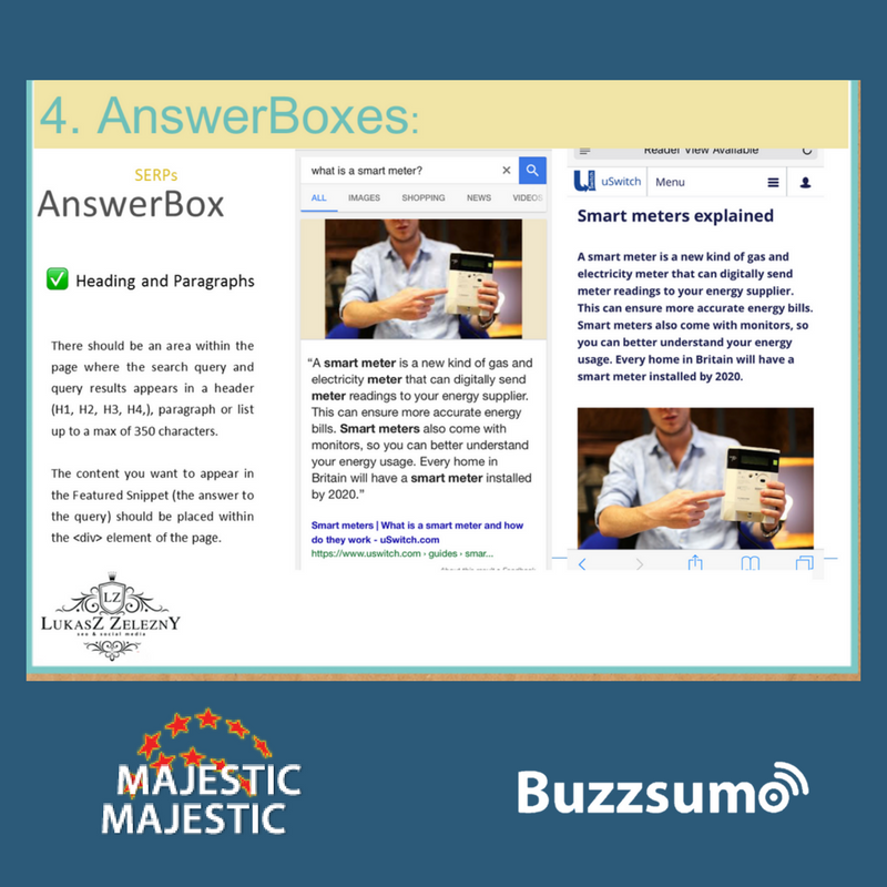SEO for Answer boxes