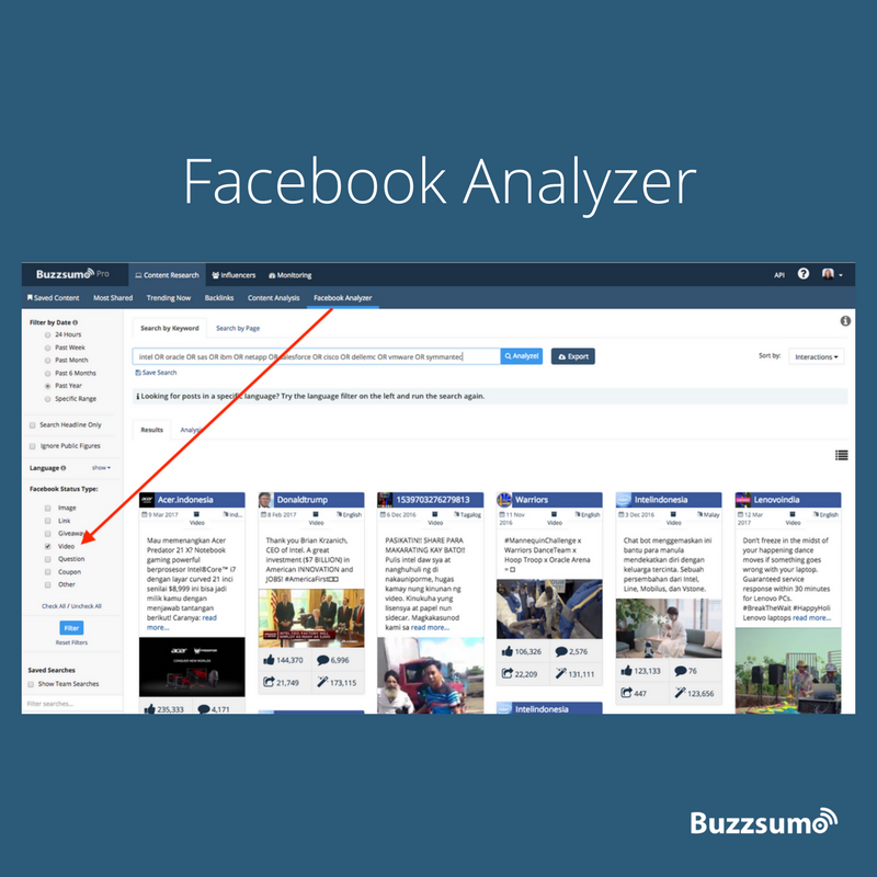 BuzzSumo Facebook Analyzer