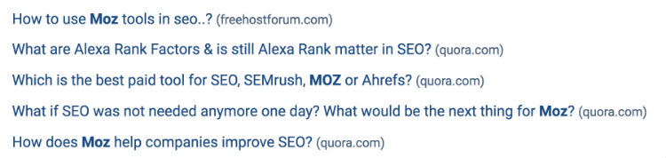 moz questions