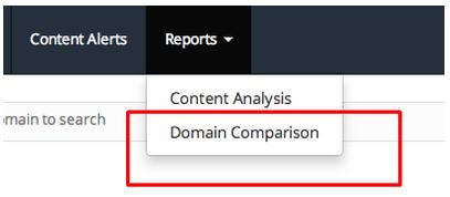 comparison domain content
