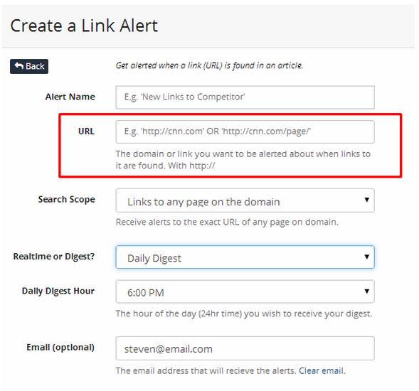link alert