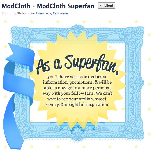 modcloth superfan