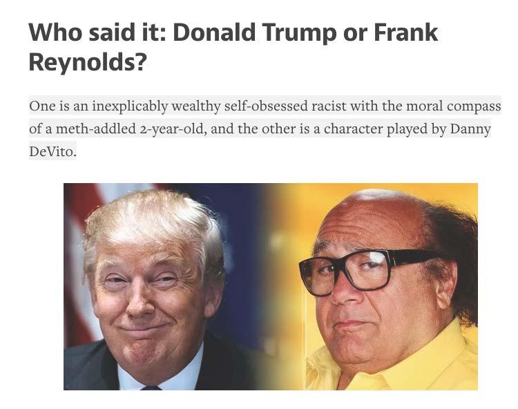Trump or Frank Reynolds