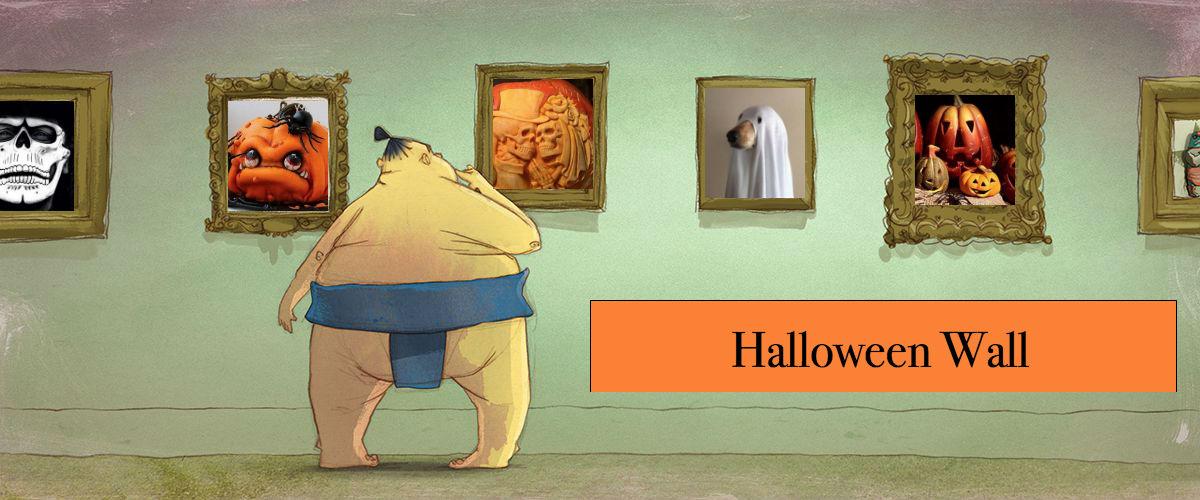 facebook-halloween-wall