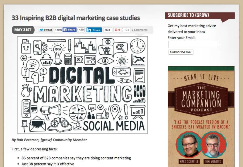 b2b digital marketing case studies