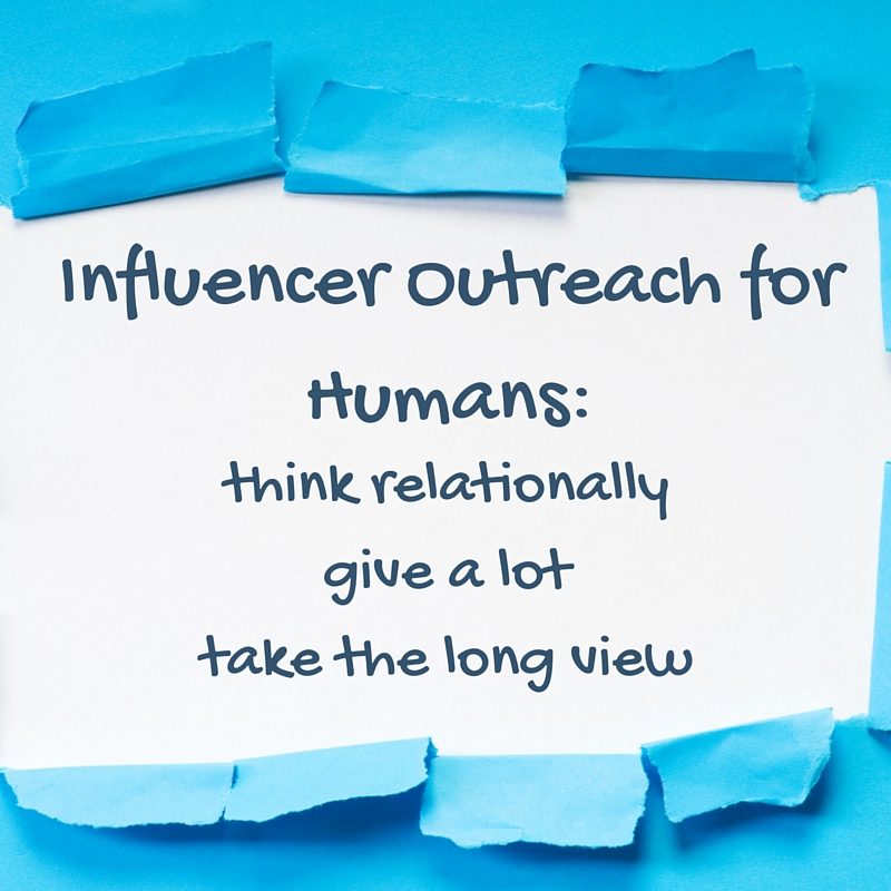 Influencer outreach for humans summary text