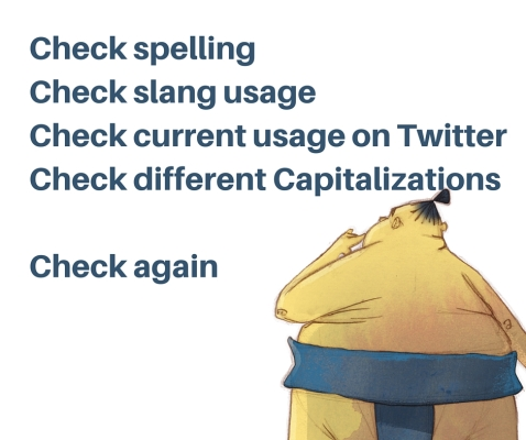 Checklist for creating hashtags in content marketing