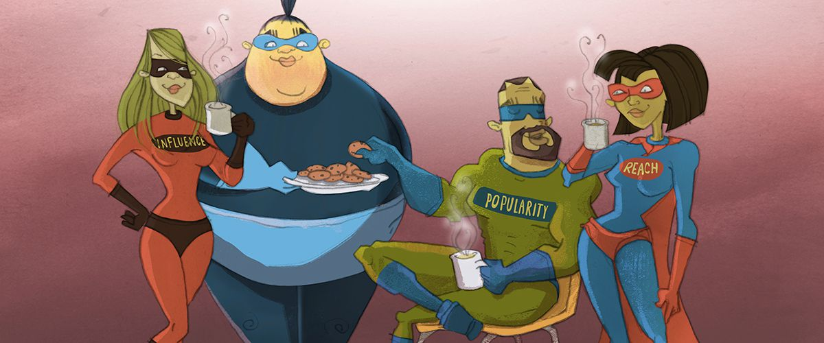BuzzSumo super heroes of influencer marketing with tea and biscuits