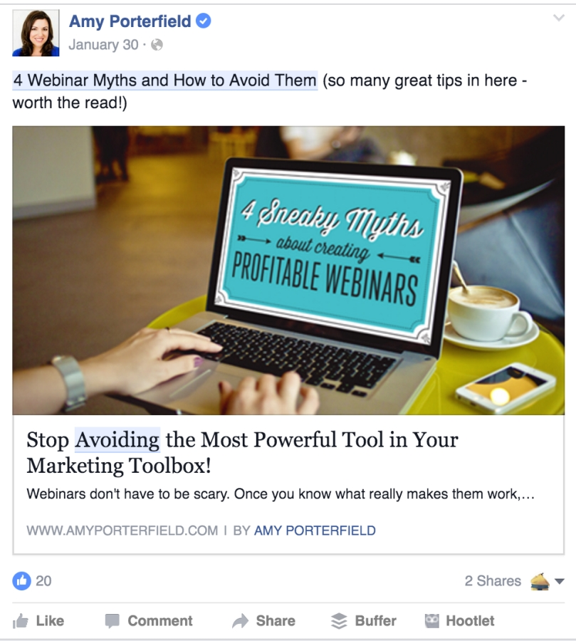 Amy porterfield--recommended post
