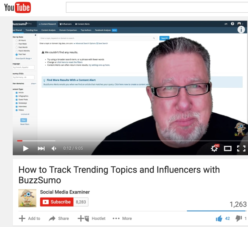John Dotto BuzzSumo video