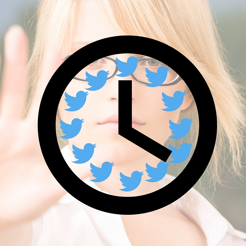 Stop the twitter clock