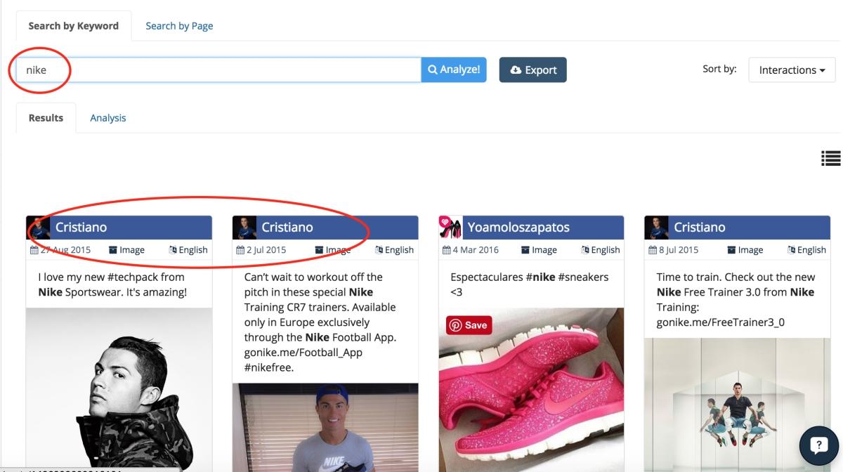 Nike Ronaldo engagement