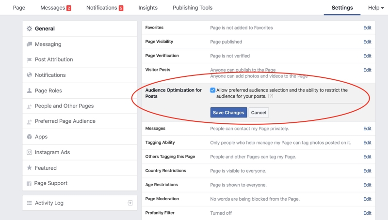 How to target an audience for Facebook posts
