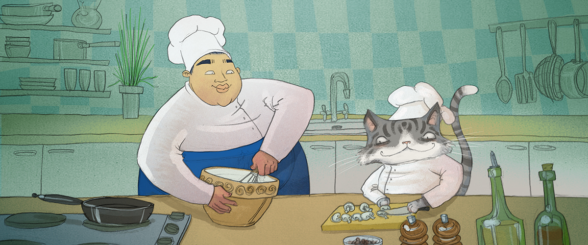 BuzzSumo cooking with Cat