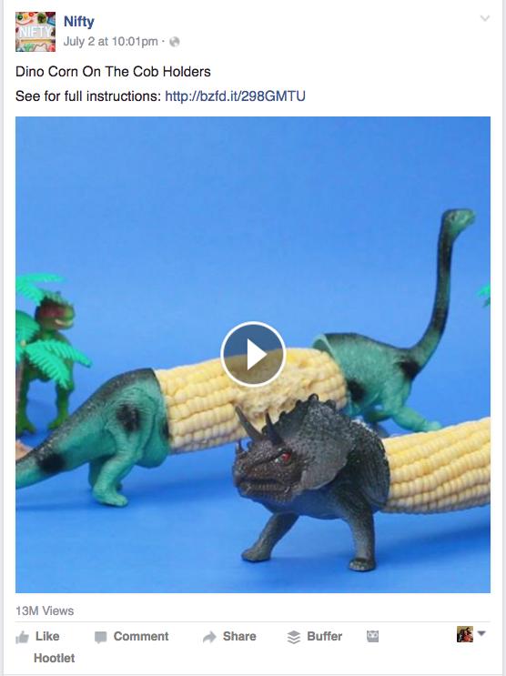 BuzzFeed Nifty Facebook video example