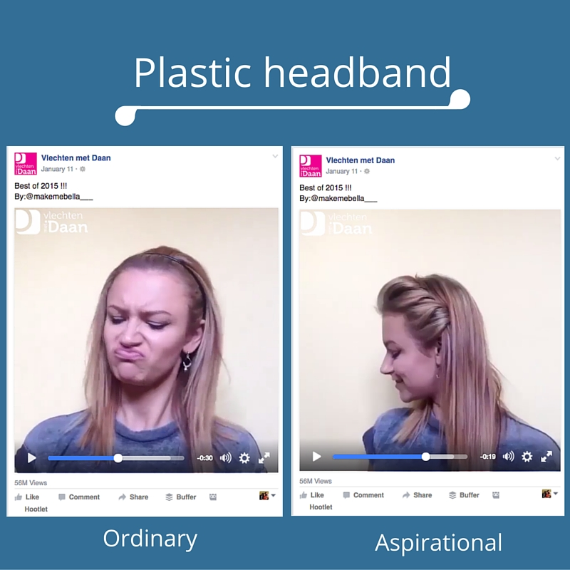 Plastic headband Facebook video example