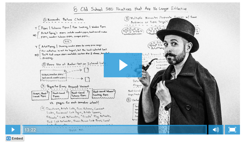 Moz Whiteboard Friday video example