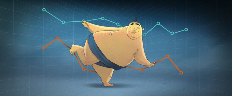 Sumo with line graph