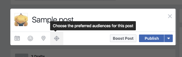 Facebook Targeting for posts