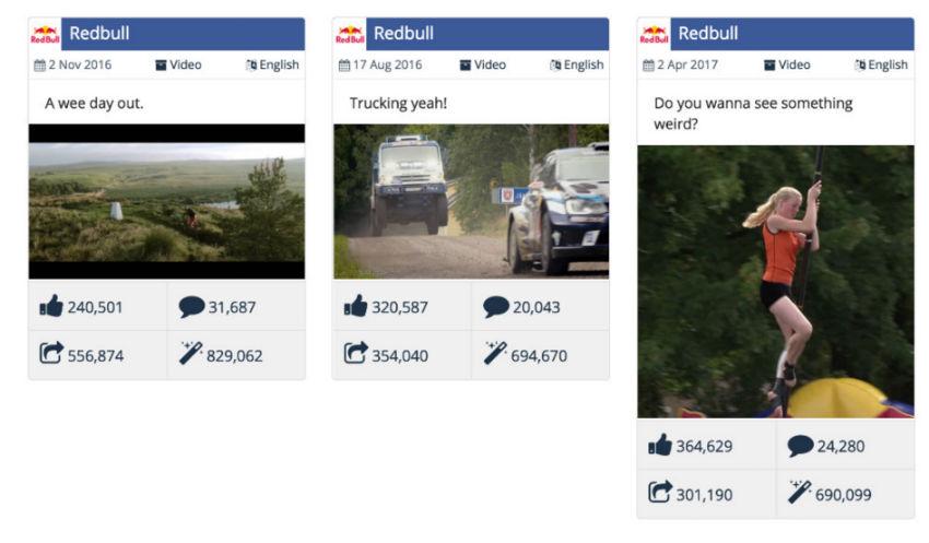 redbull facebook videos