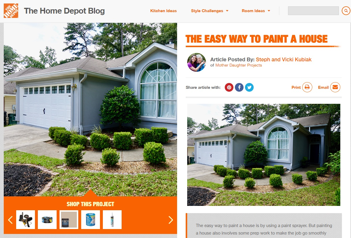 House painting example of content marketing for ecommerce