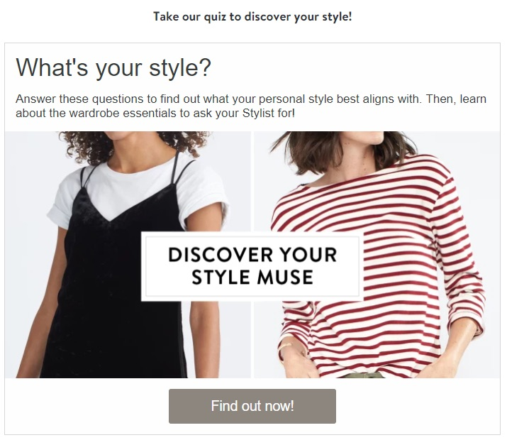 Stitch fix example of content marketing for ecommerce