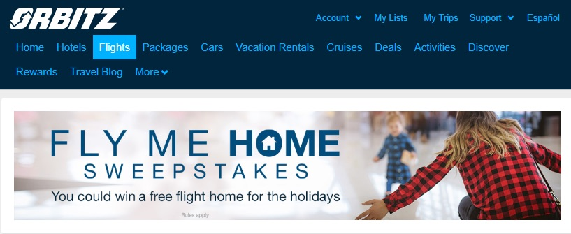 Orbitz example of content marketing for ecommerce