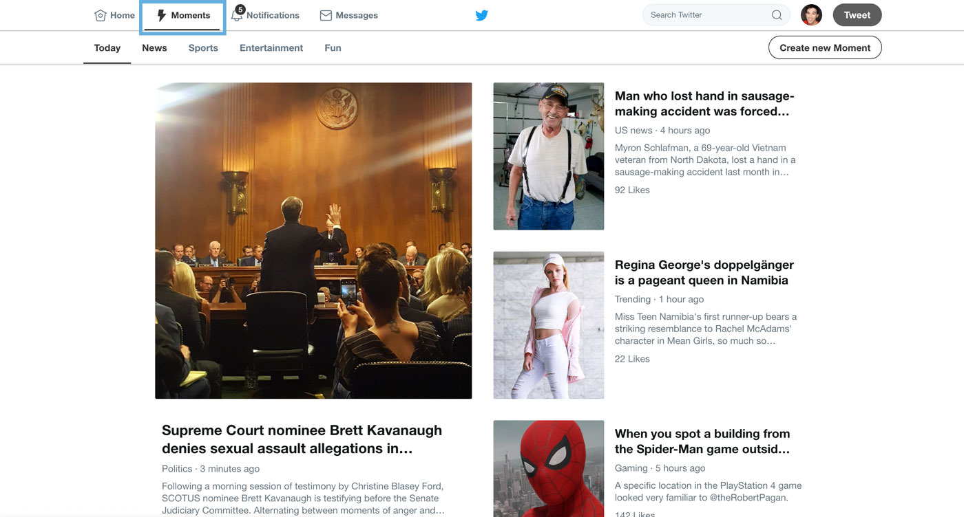 twitter-moments for content curation