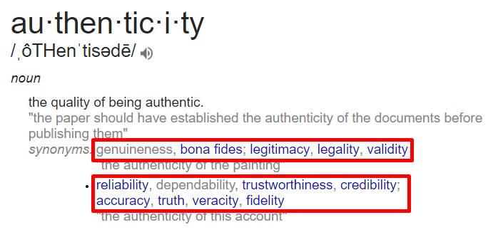 authenticity-SEO-content