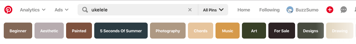 pinterest auto suggest blog ideas