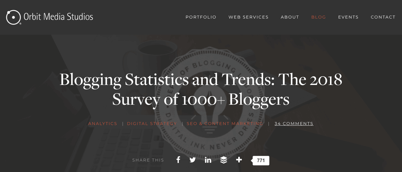 Blogger survey influencer content