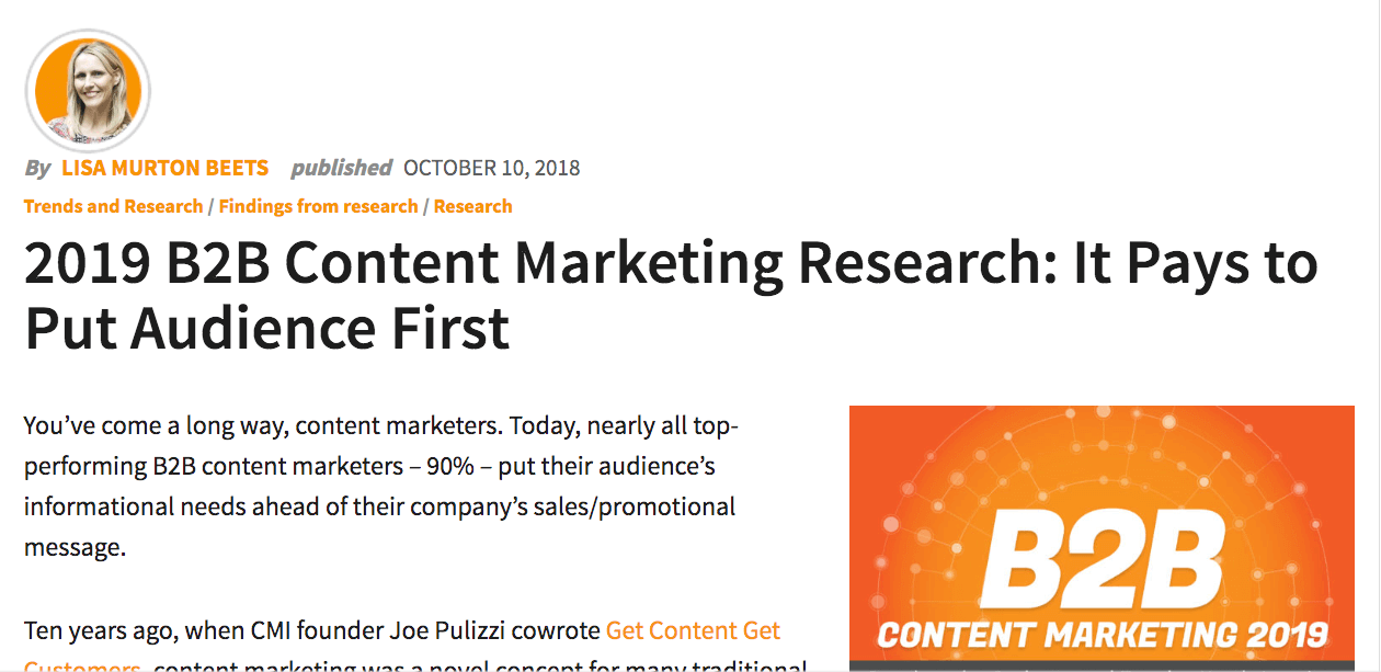 B2B Marketing Research Influencer content